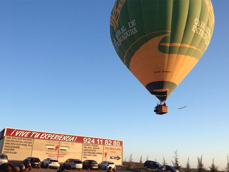 vuelo globo aerostatico extremadura aerodromo moral 1